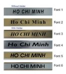 Ho Chi Minh Clock Name Plate |World Time Zone City Wall clocks Sign custom Plaque